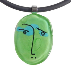 SCRIBBLE • murano glass necklace • GREEN