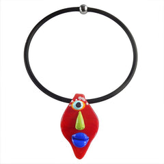 ALIEN RED • murano glass necklace • RED | black