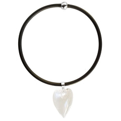 CUORE HEART • Murano Glass Necklace • CRYSTAL black