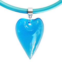 CUORE HEART • Murano Glass Necklace • AQUA aqua