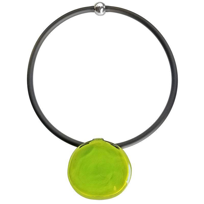 DISCO 2 • murano glass necklace • LIME