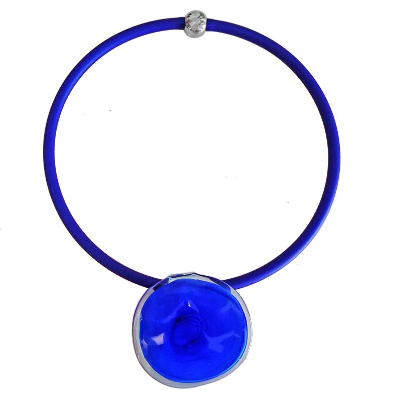 DISCO 2 • murano glass necklace • COBALT