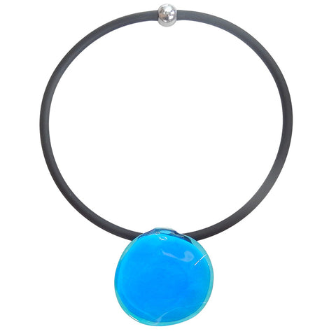 DISCO 2 • murano glass necklace • TURQUOISE