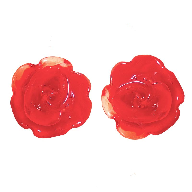 ROSA • ROSE murano glass stud earrings