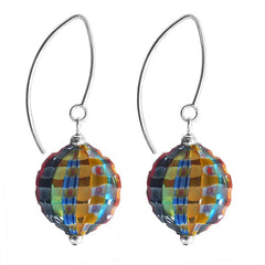 VENEZIA round • millefiori murano glass earrings