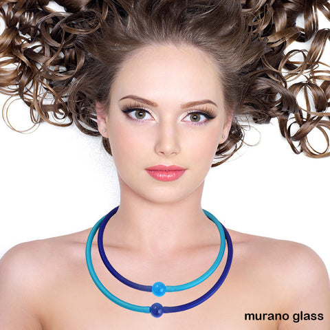 TUBINO NECKLACES • MURANO • glass link