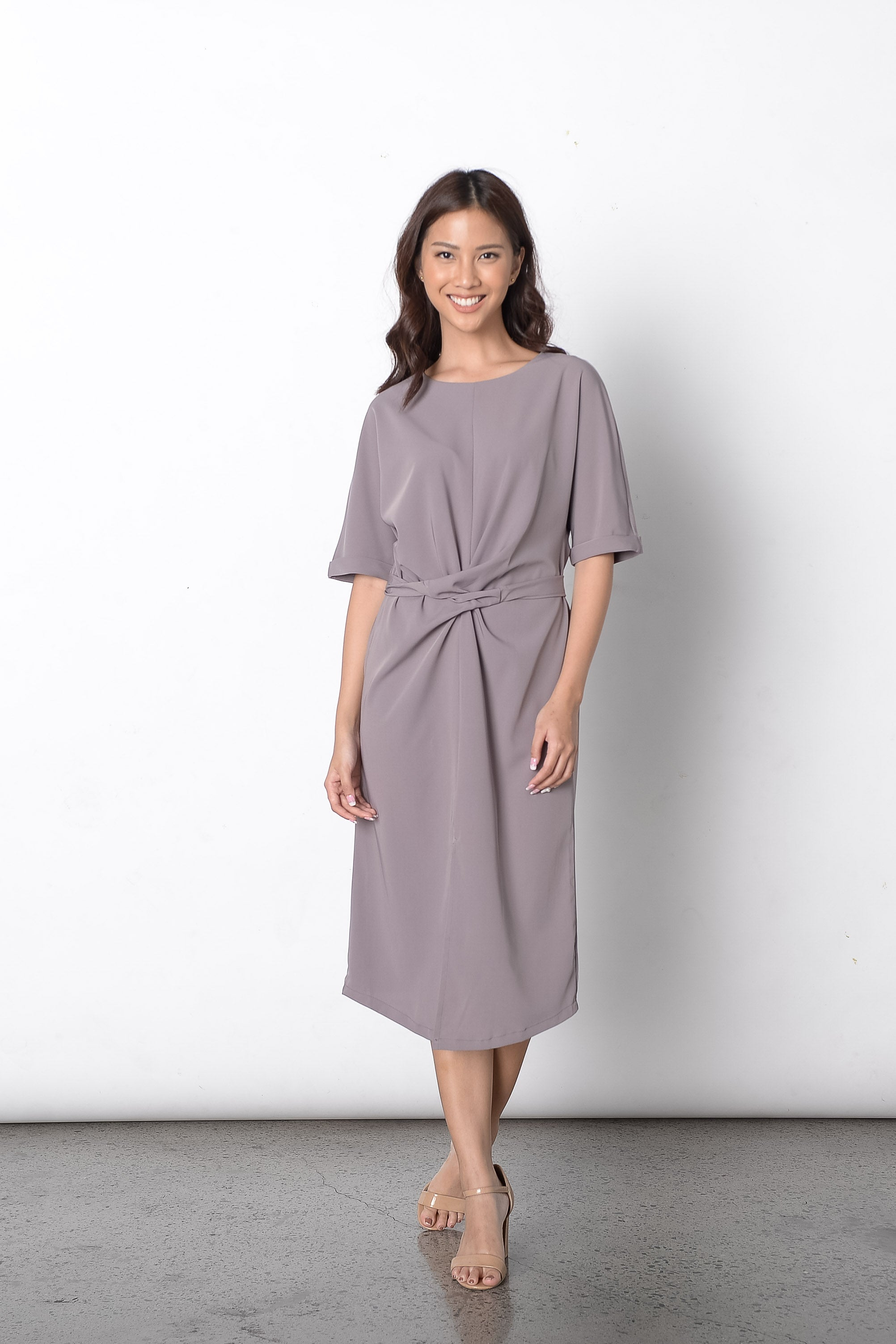 Diantha Dress in Grey