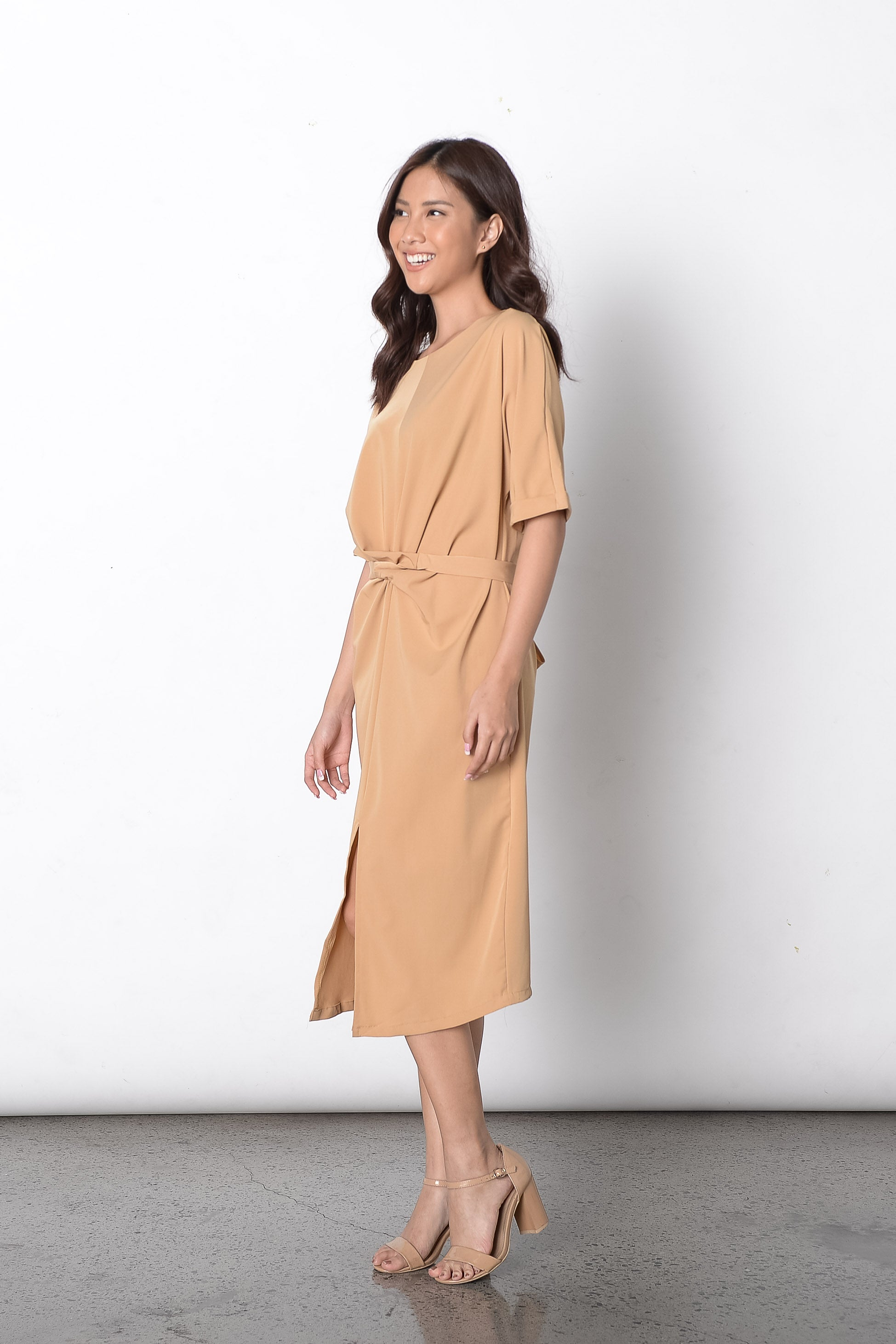 Diantha Dress in Beige