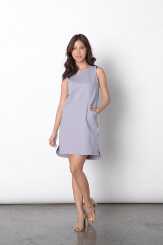 Dilek S/L Loose Dress in Grey