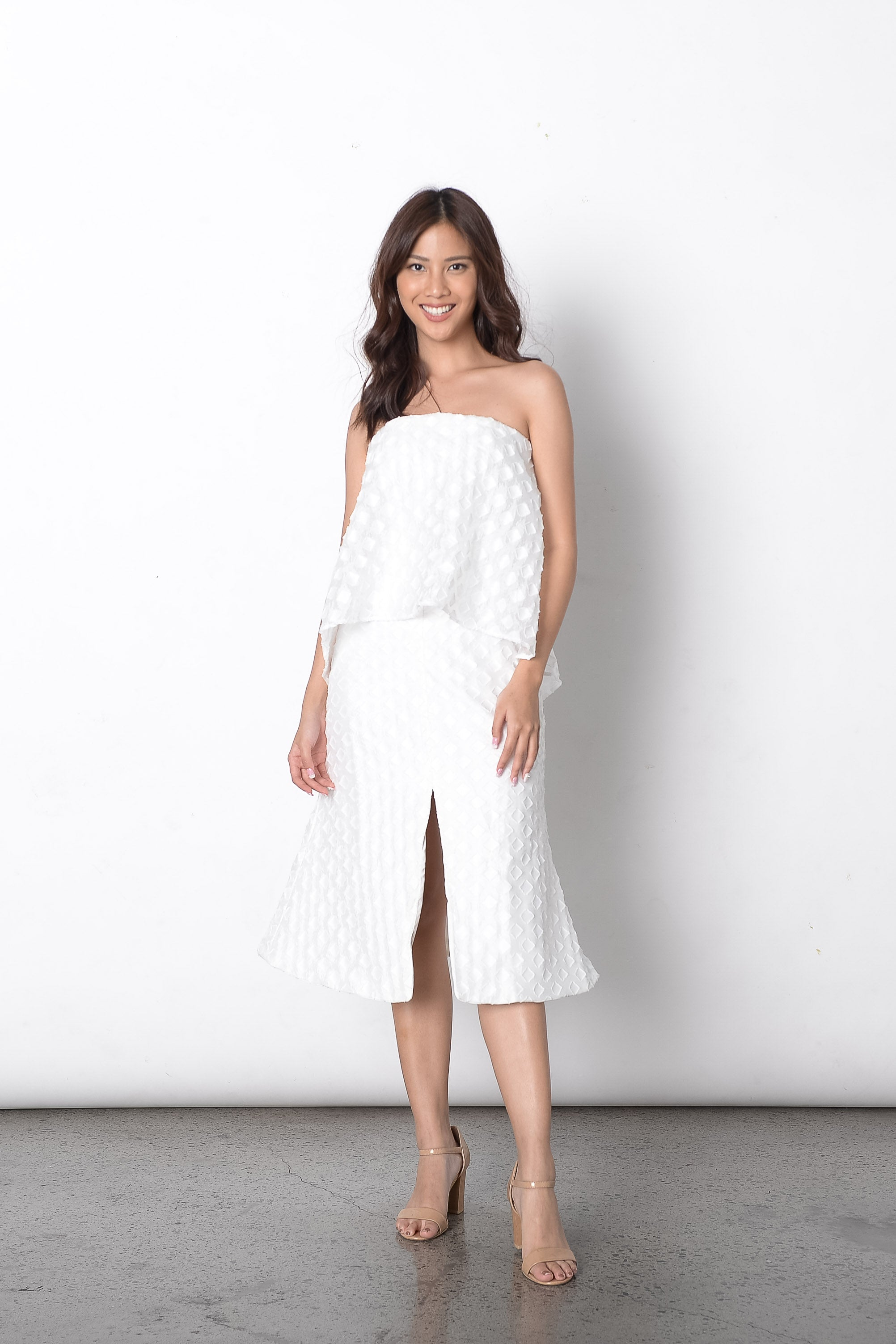 Deifilia Dress in White