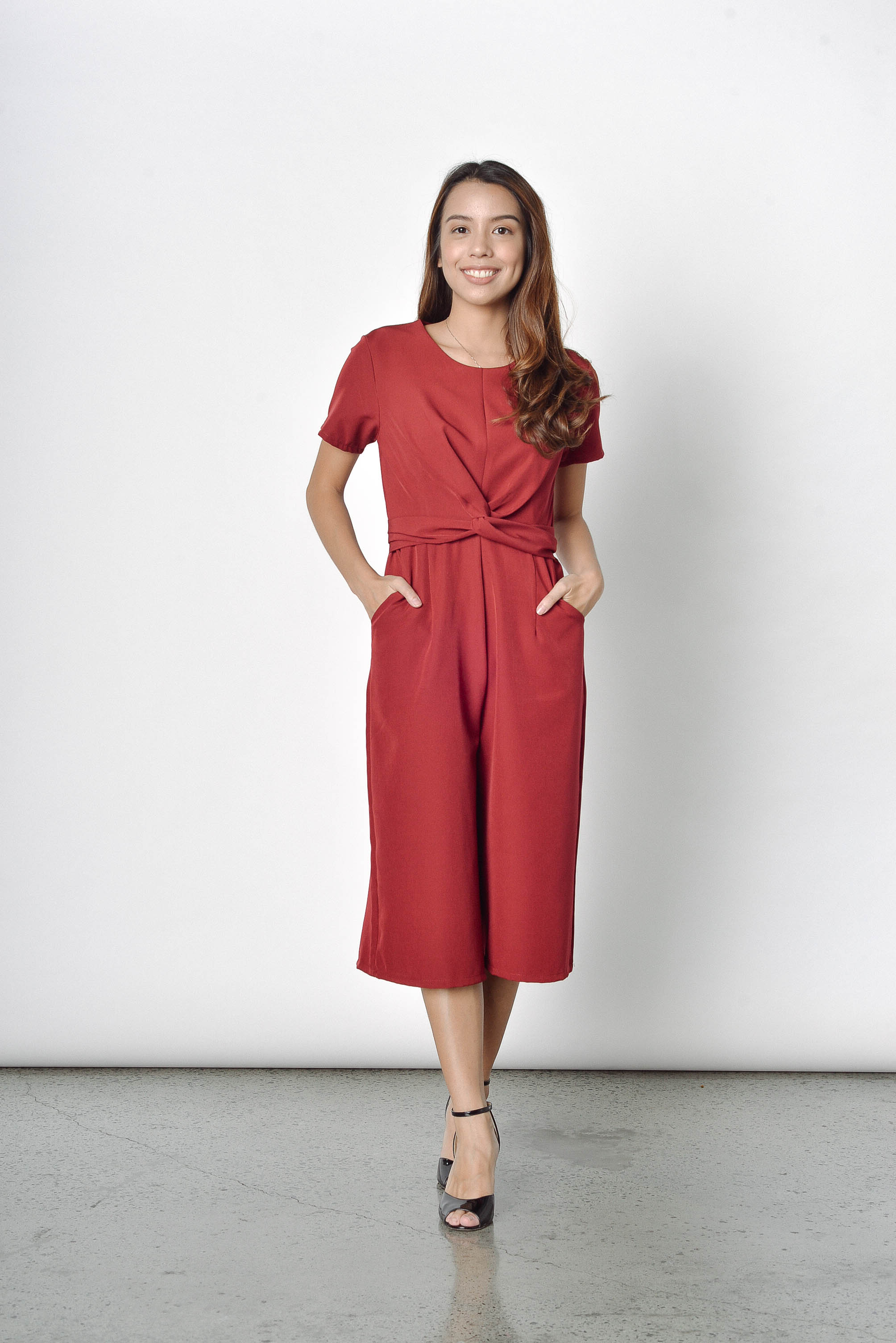 December Culottes in Maroon