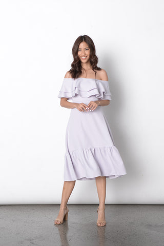 Desta Off Shoulder Dress in Lilac