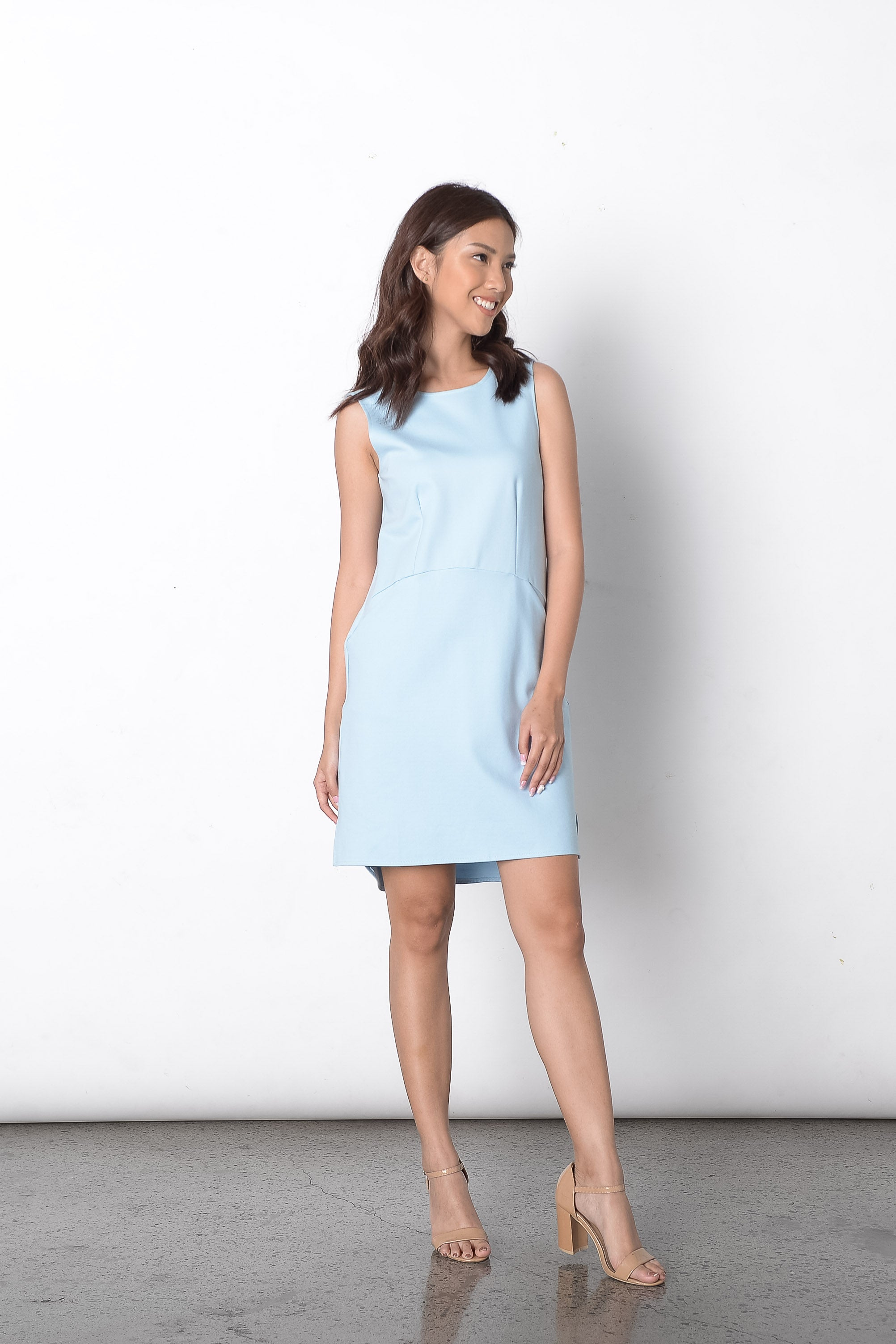 Dilek S/L Loose Dress in Blue