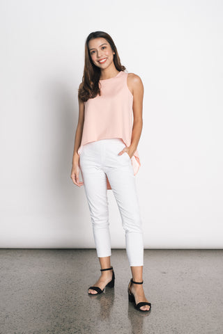 Douce Hi-Slit Top in White