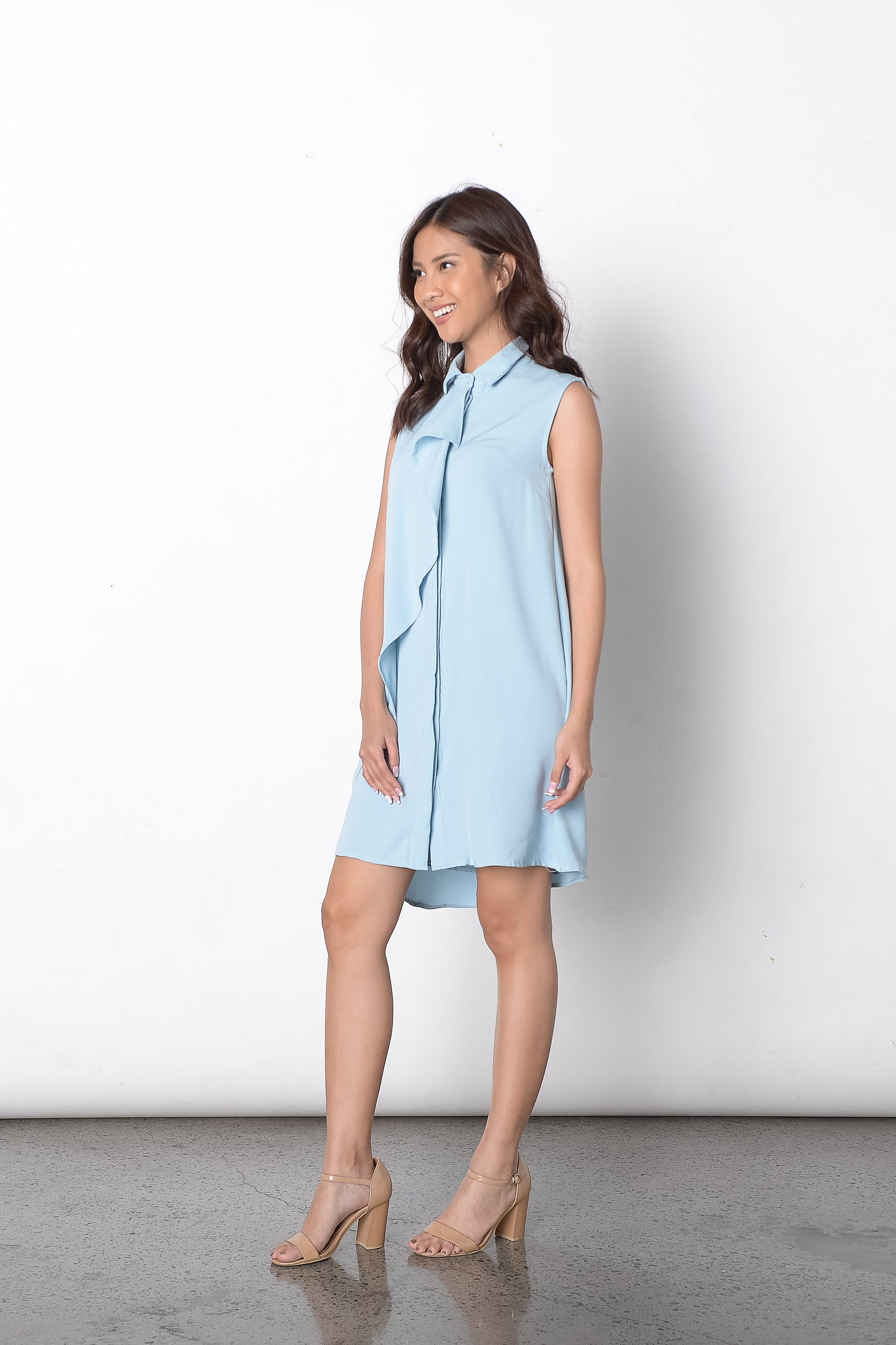 Di Trench Dress in Light Blue