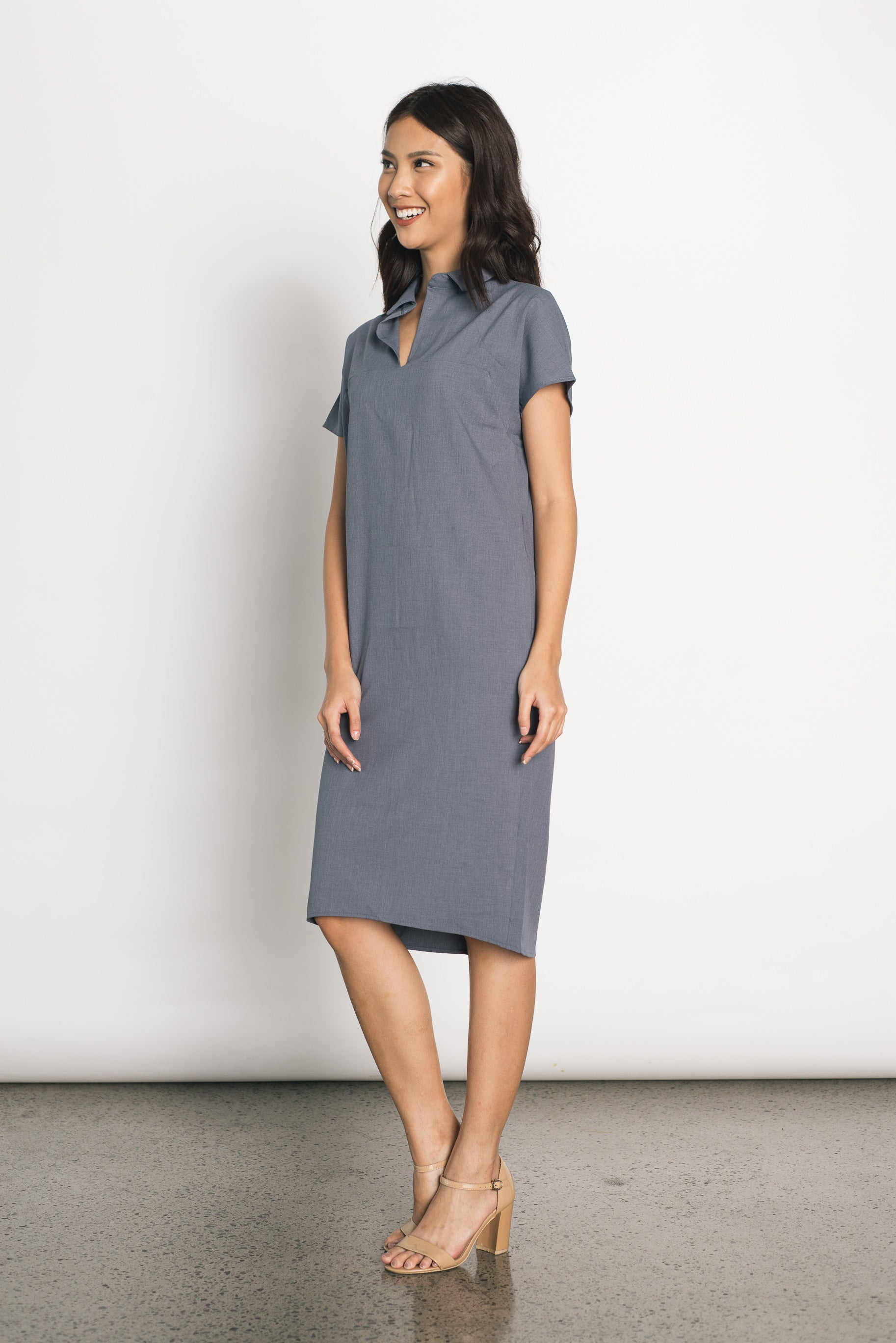 Donalda Dress in Grey