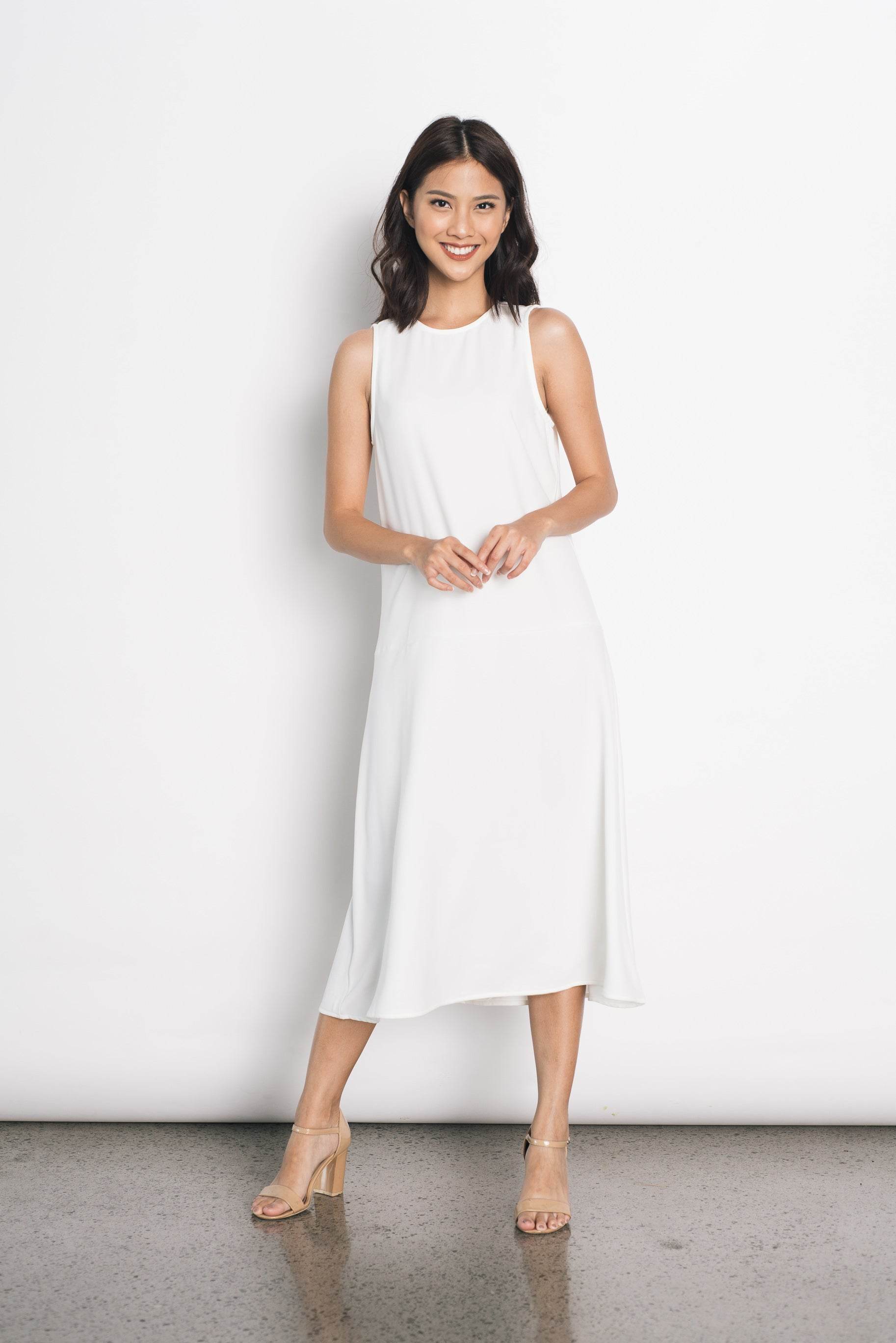 Donoma Dress in White