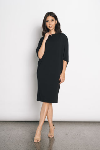 Eevi Knitted S/L Dress in Black