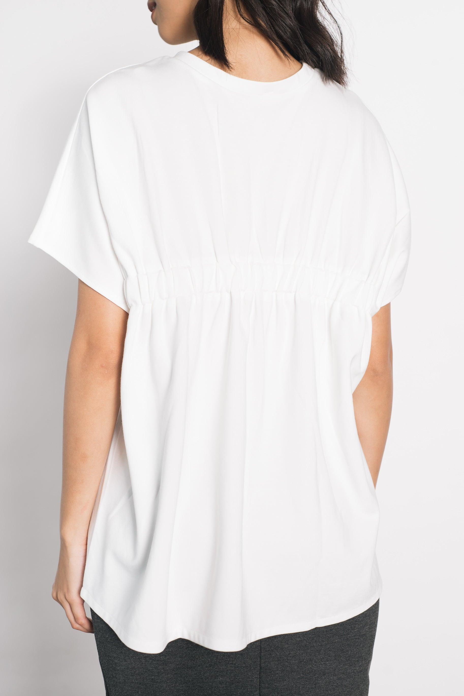 Dores Smocked Top in White