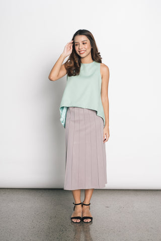 Drusilla Top in Greyed Green
