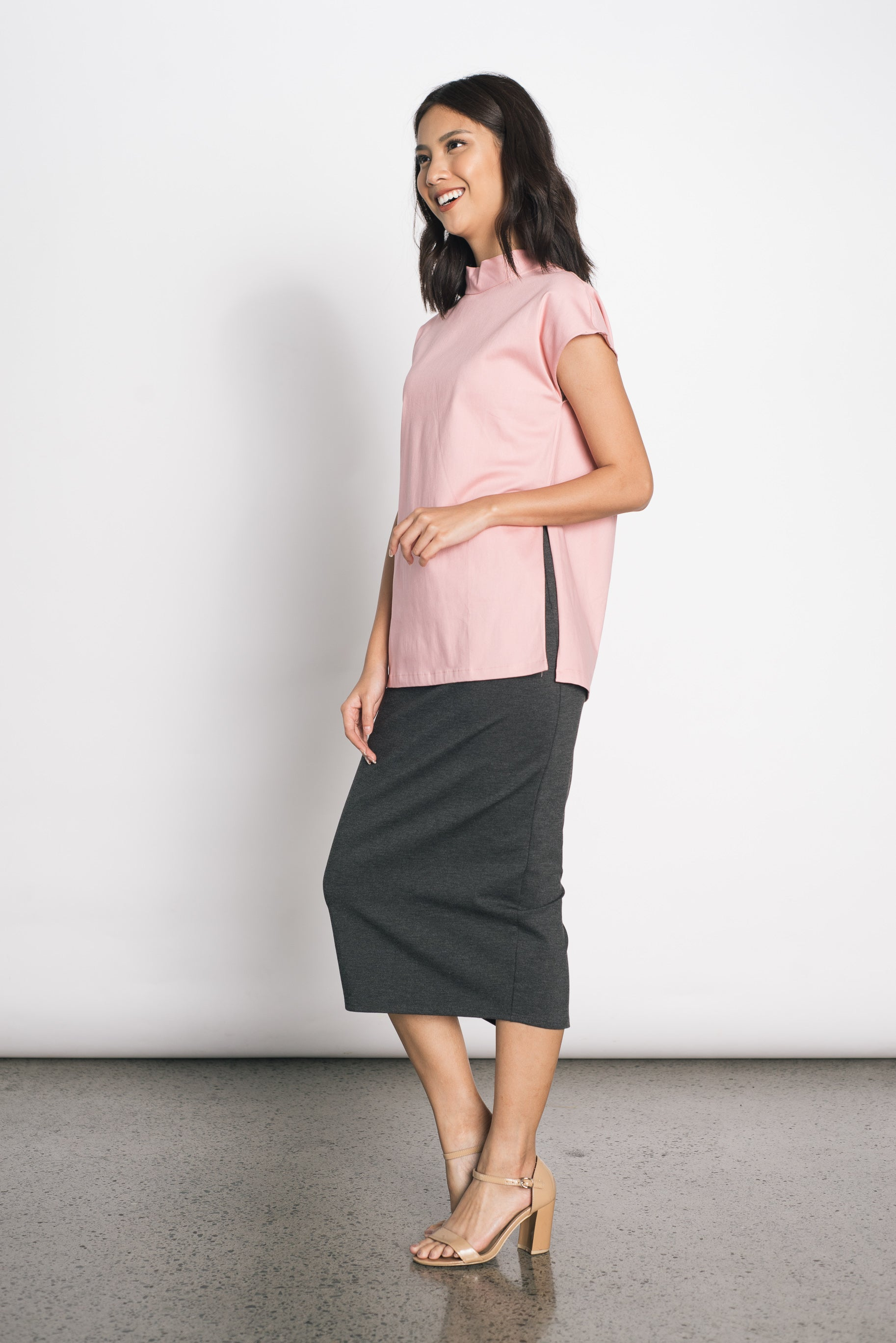 Douce Hi-Slit Top in Pink