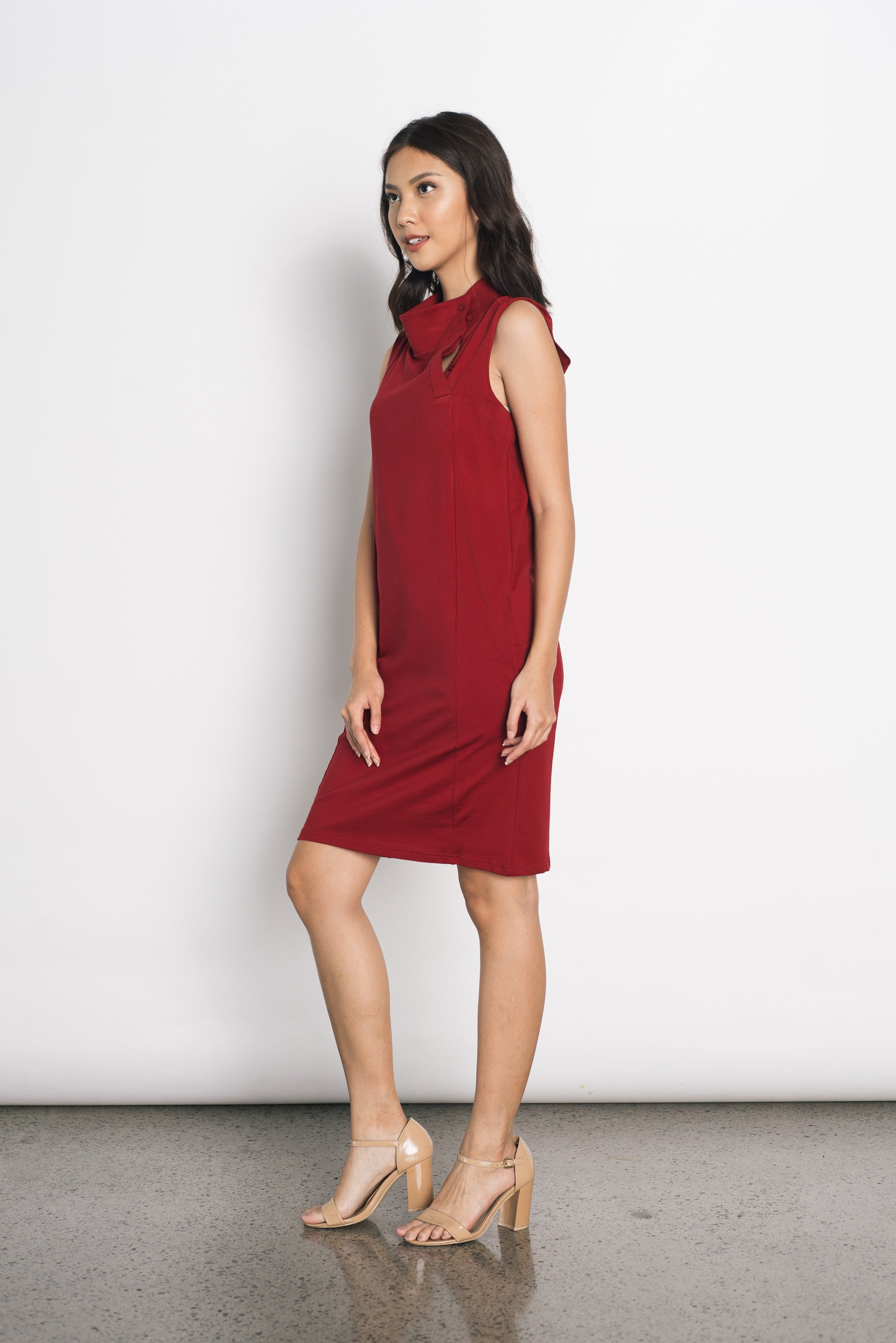 Duci Sleeveless Dress in Red