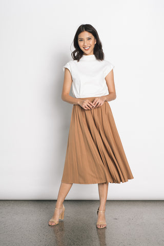 Drika Midi Skirt in Grey