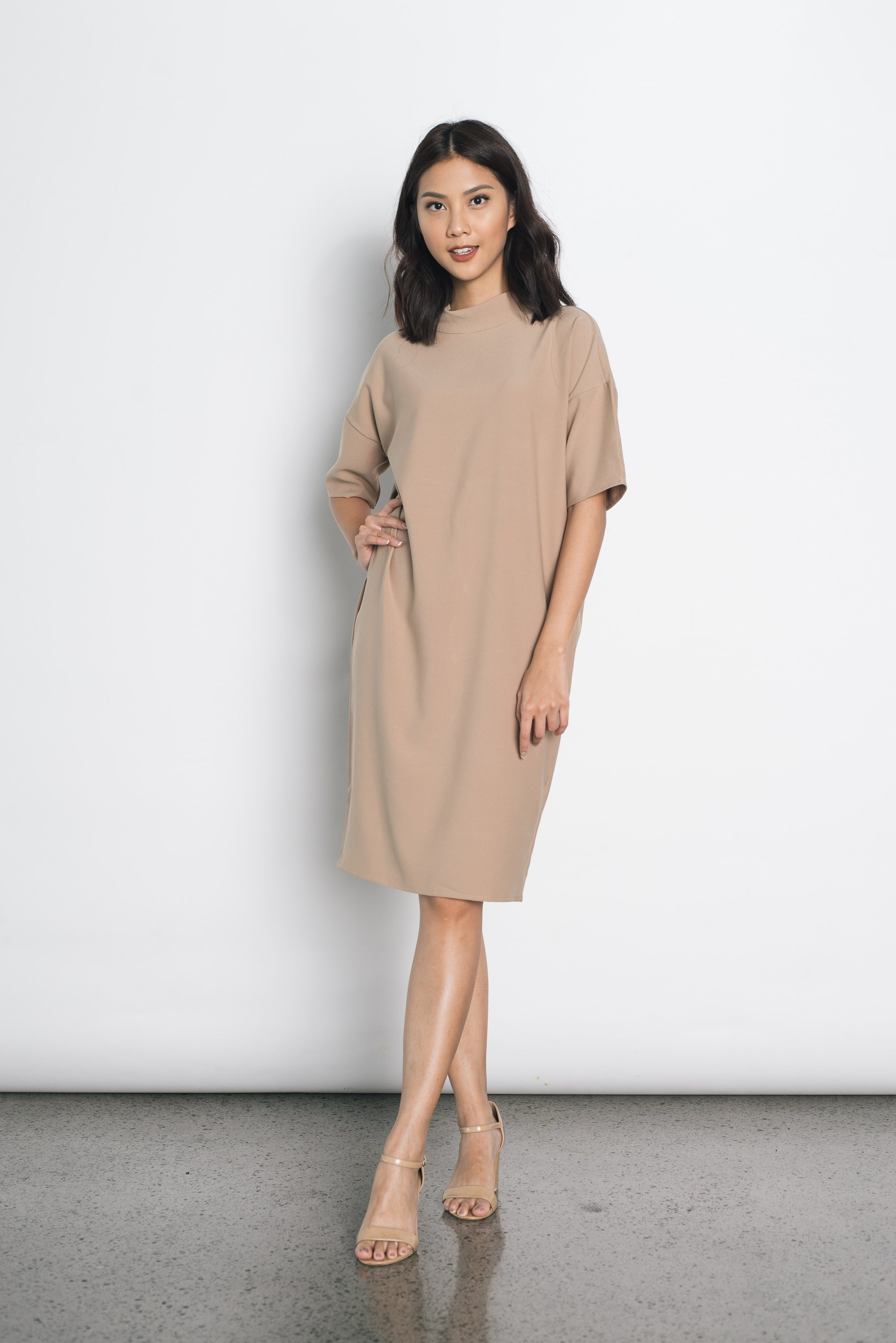 Eartha Dress in Brown
