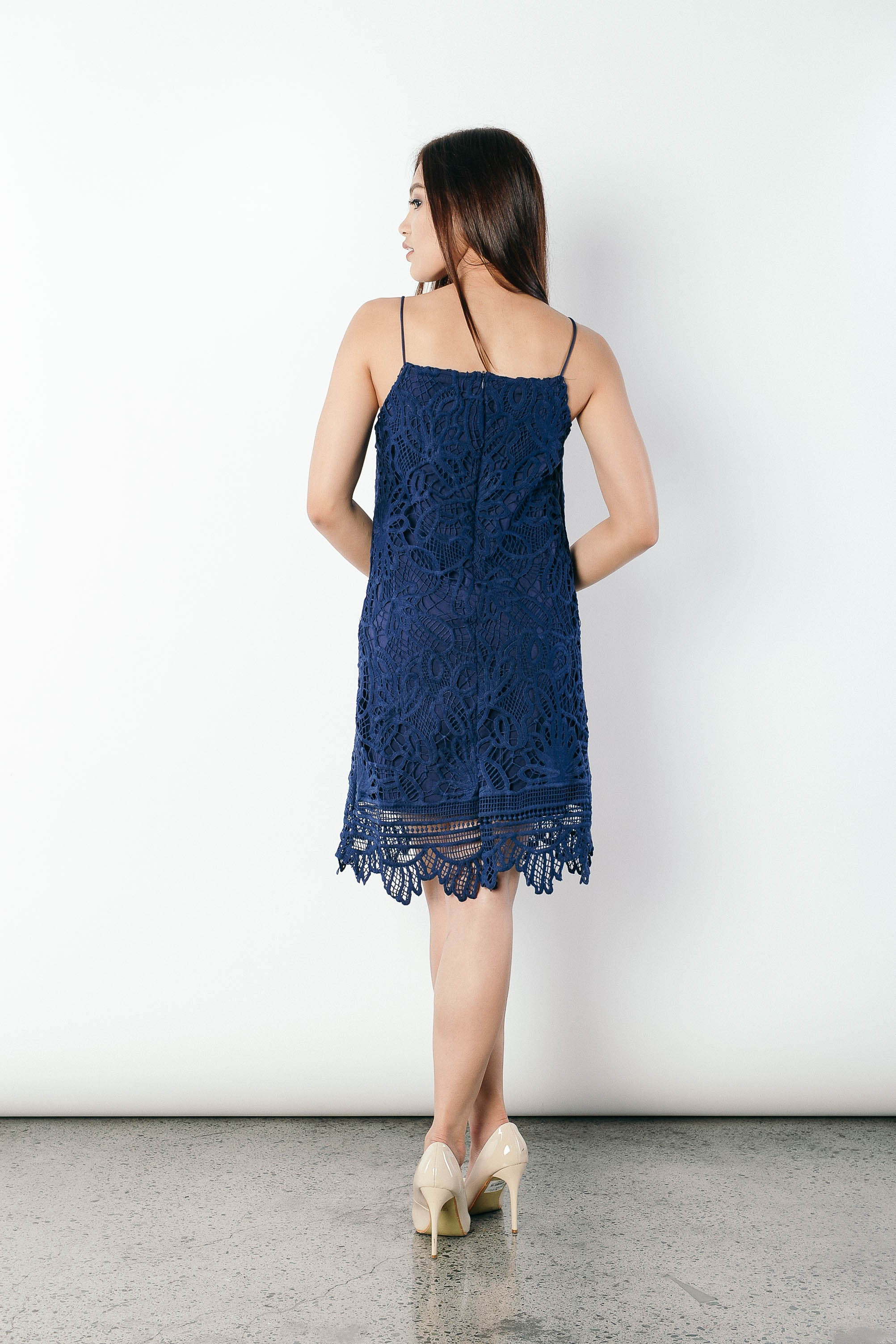 Gavriella Dress in Navy