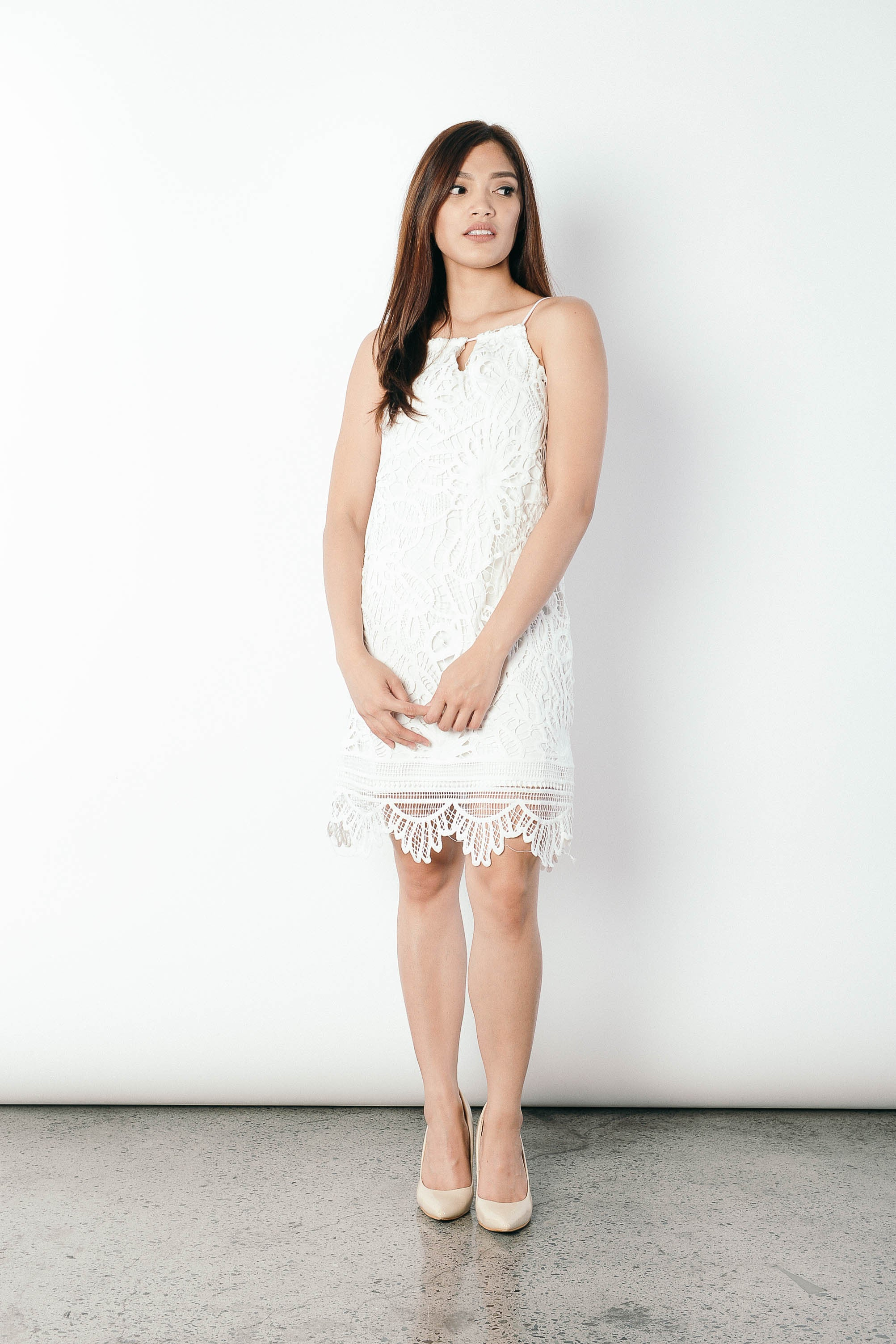 Gavriella Dress in White