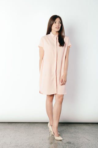 Geovana Collared Dress in Pink