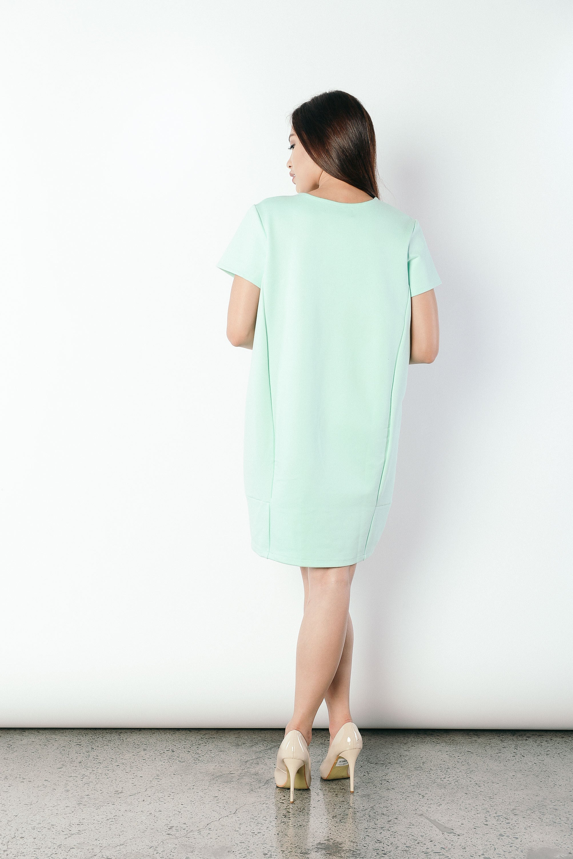 Graziella T-shirt Dress in Green
