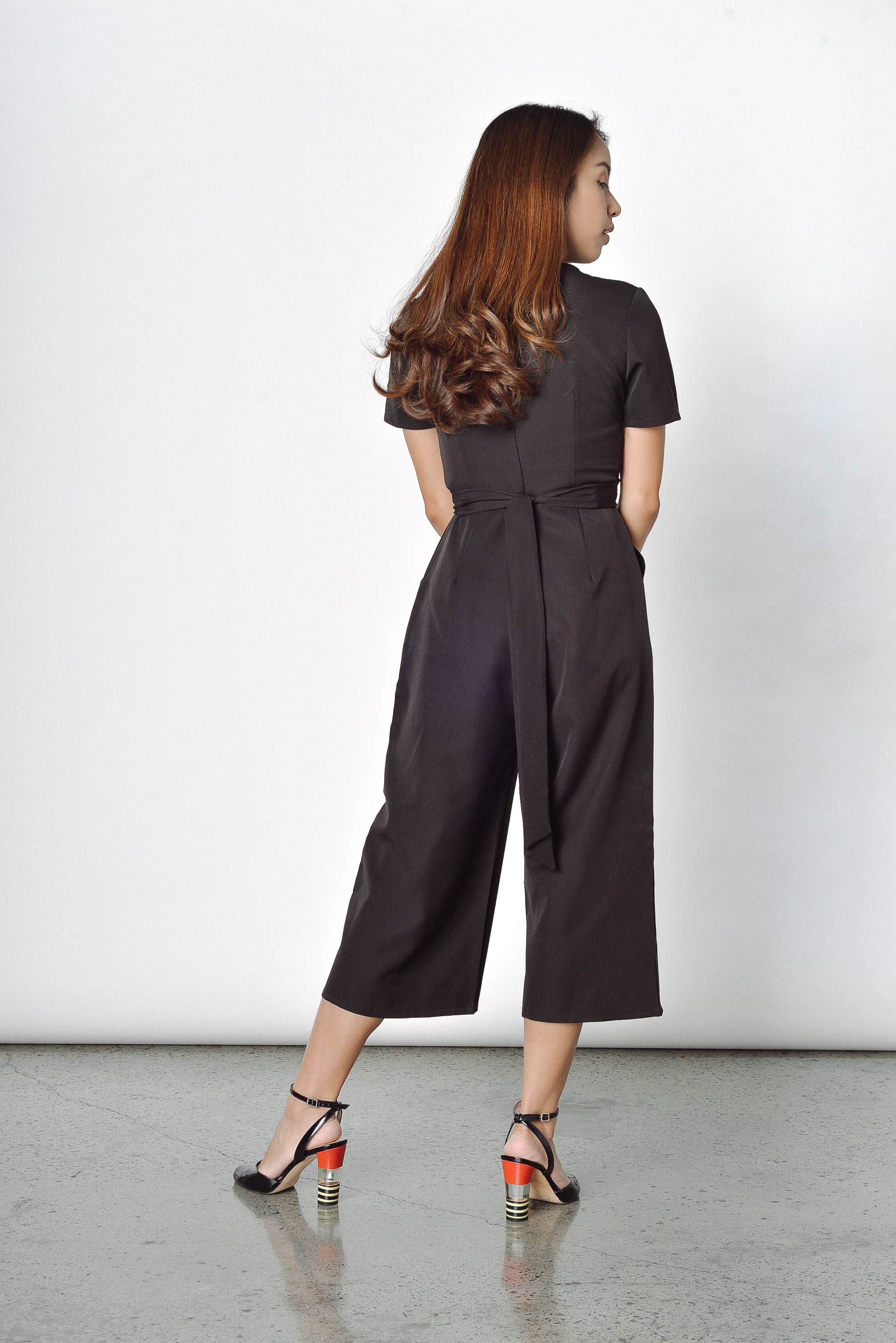 Opal Tied Up Culottes in Black