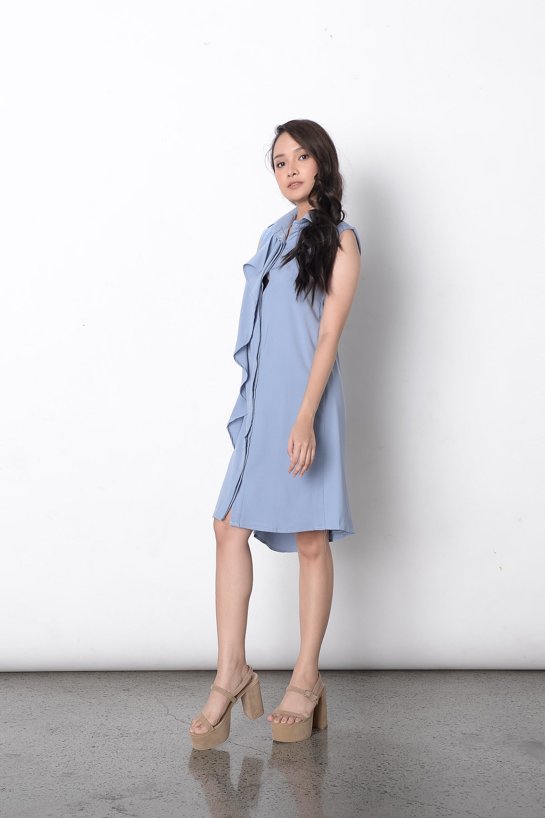 Di Trench Dress in Blue