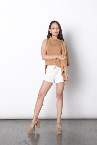 Germaine Cape Top in Beige