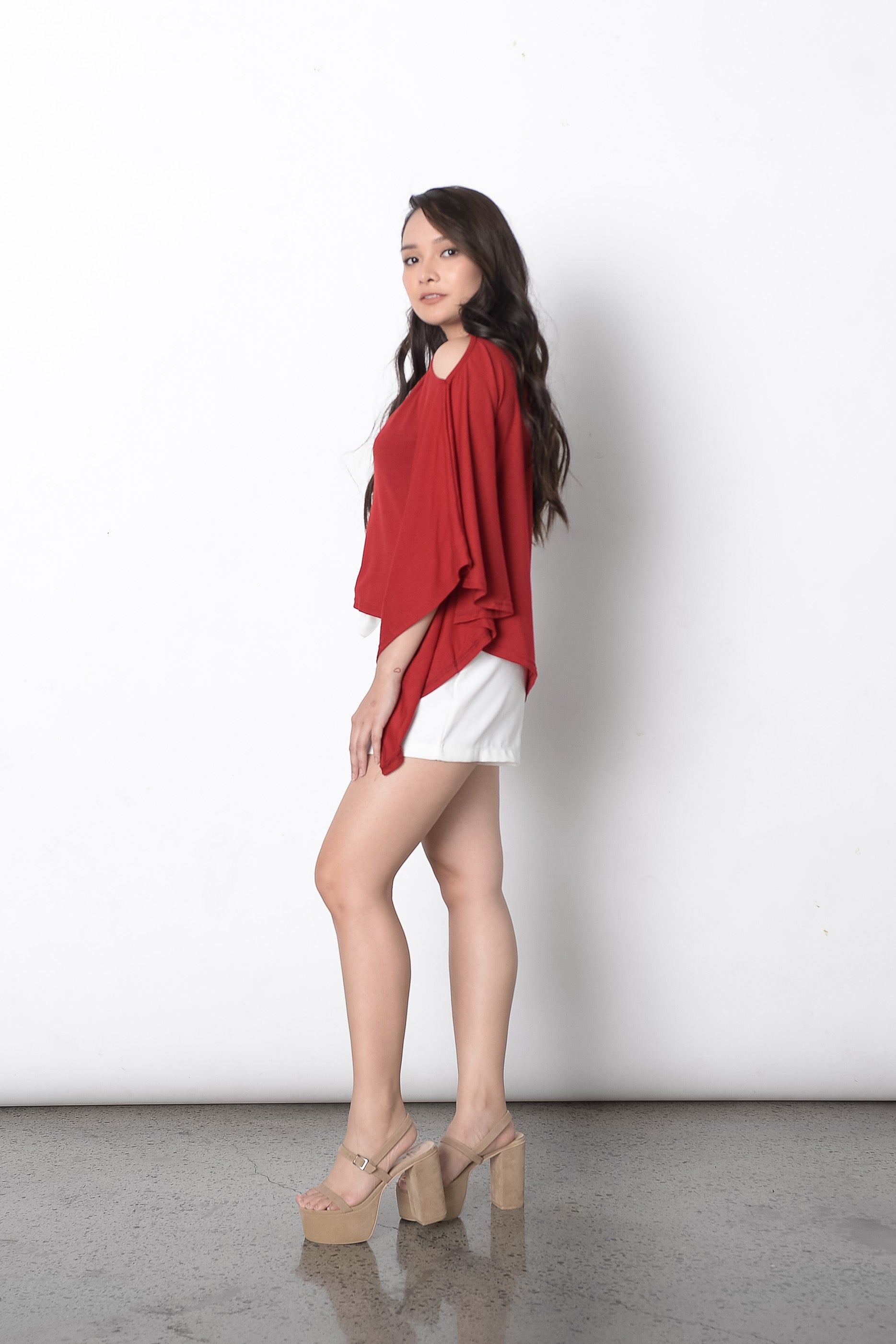 Germaine Cape Top in Red