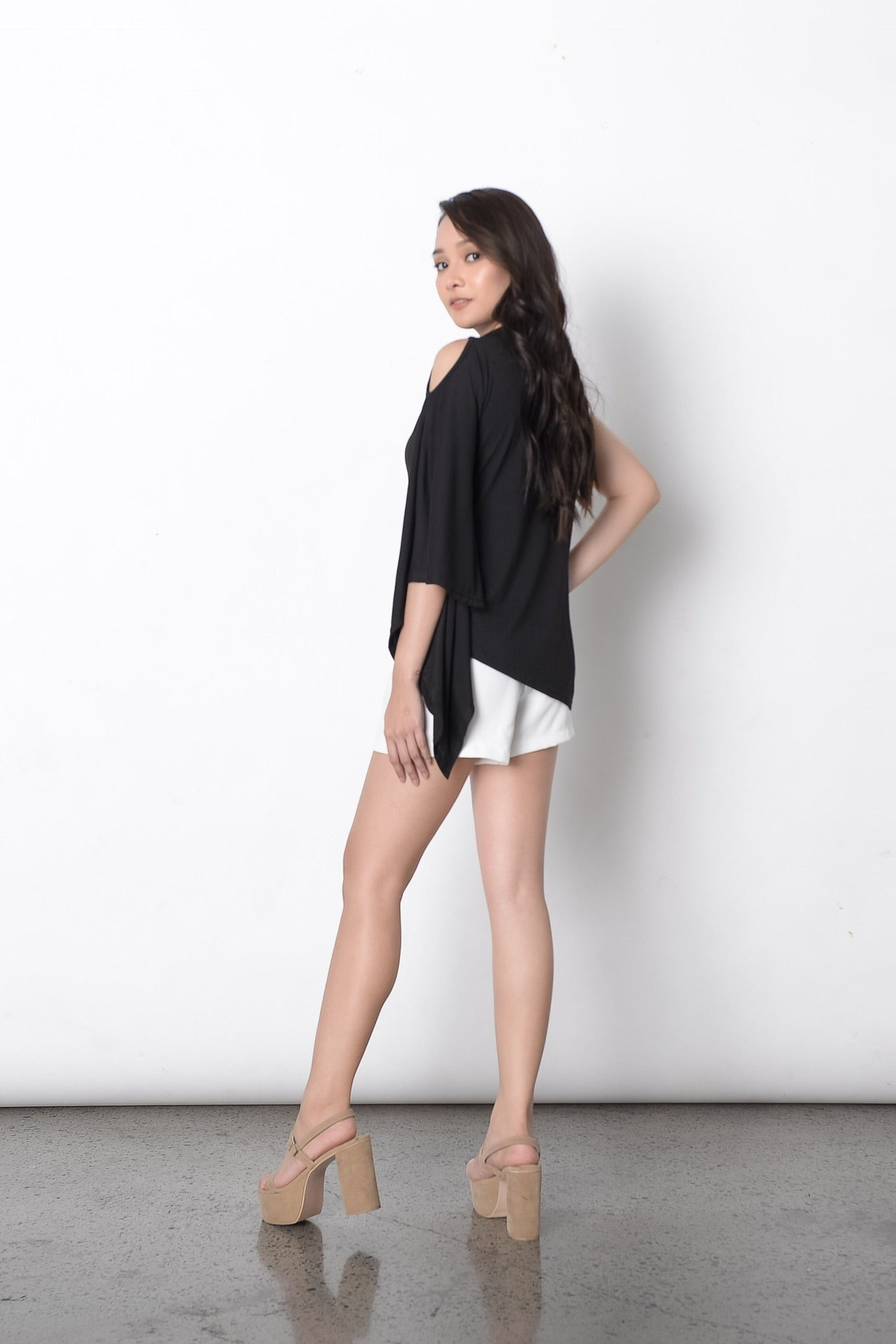 Germaine Cape Top in Black