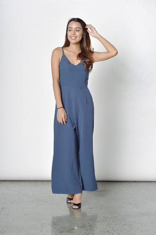 Zirconia Jumpsuit in Blue