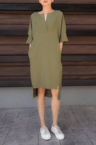 Zen Shirt Dress in Black