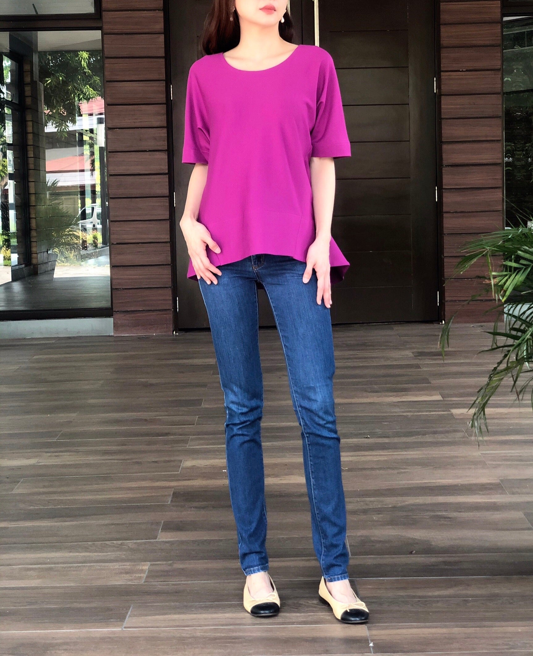 Nadine Top in Magenta