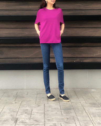 Margaret Top in Magenta