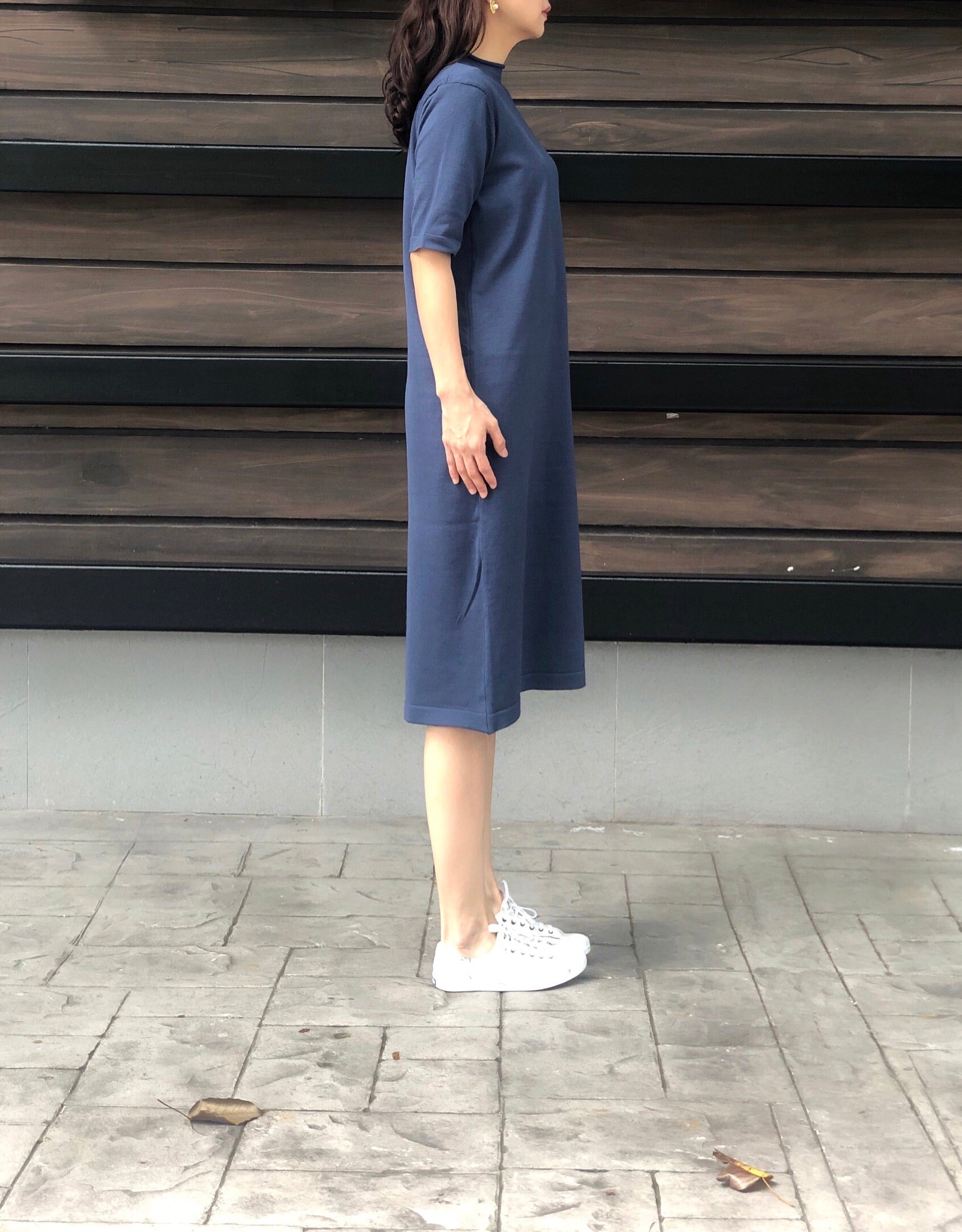 Lexi S/S Knitted Dress in Blue