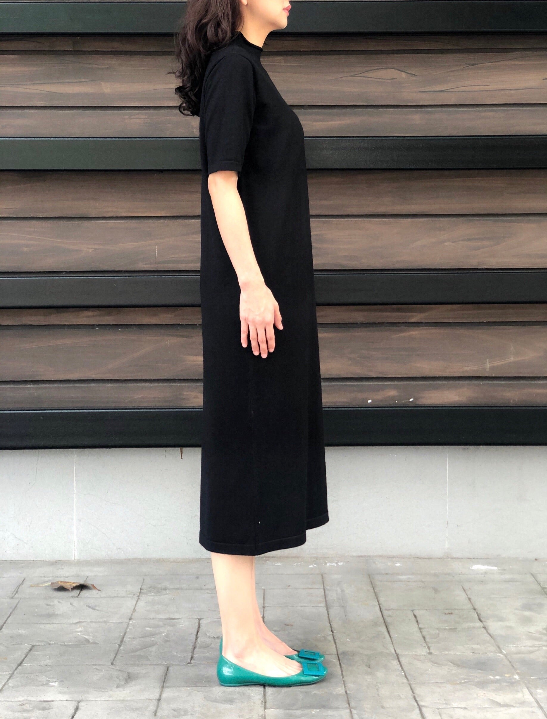 Lexi S/S Knitted Dress in Black