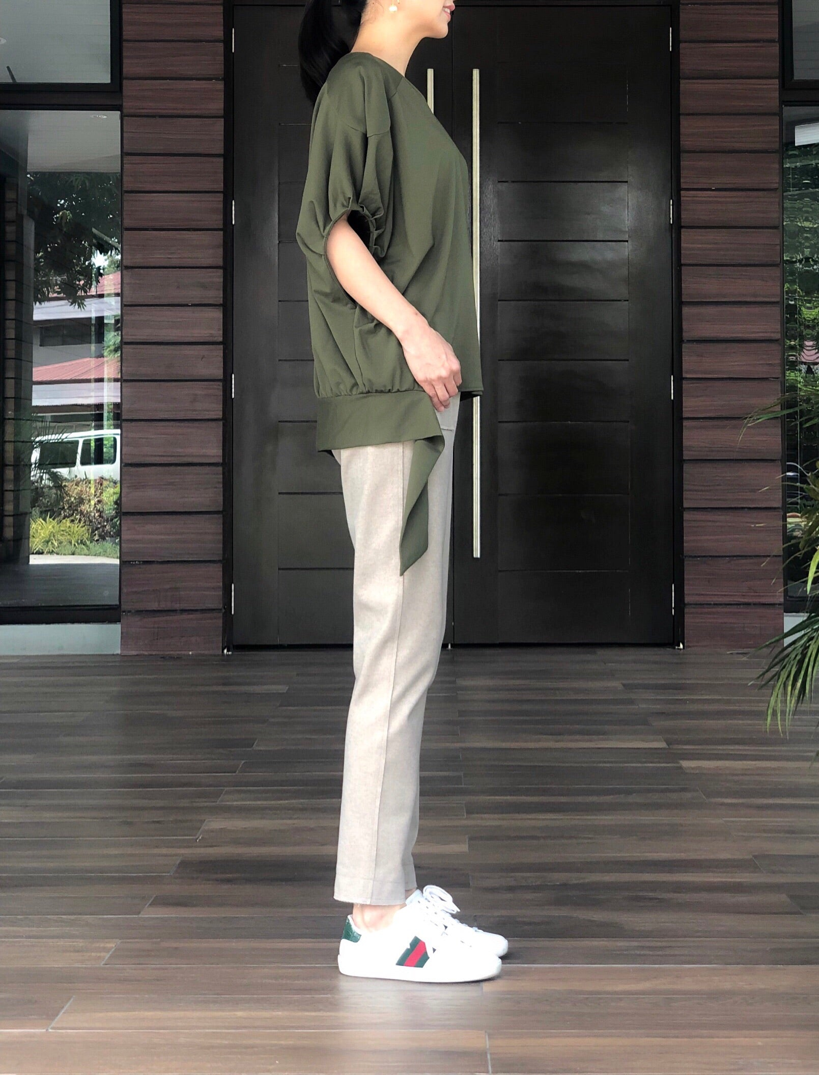 Jirina Top in Olive