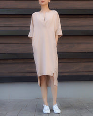 Genette Dress in Beige