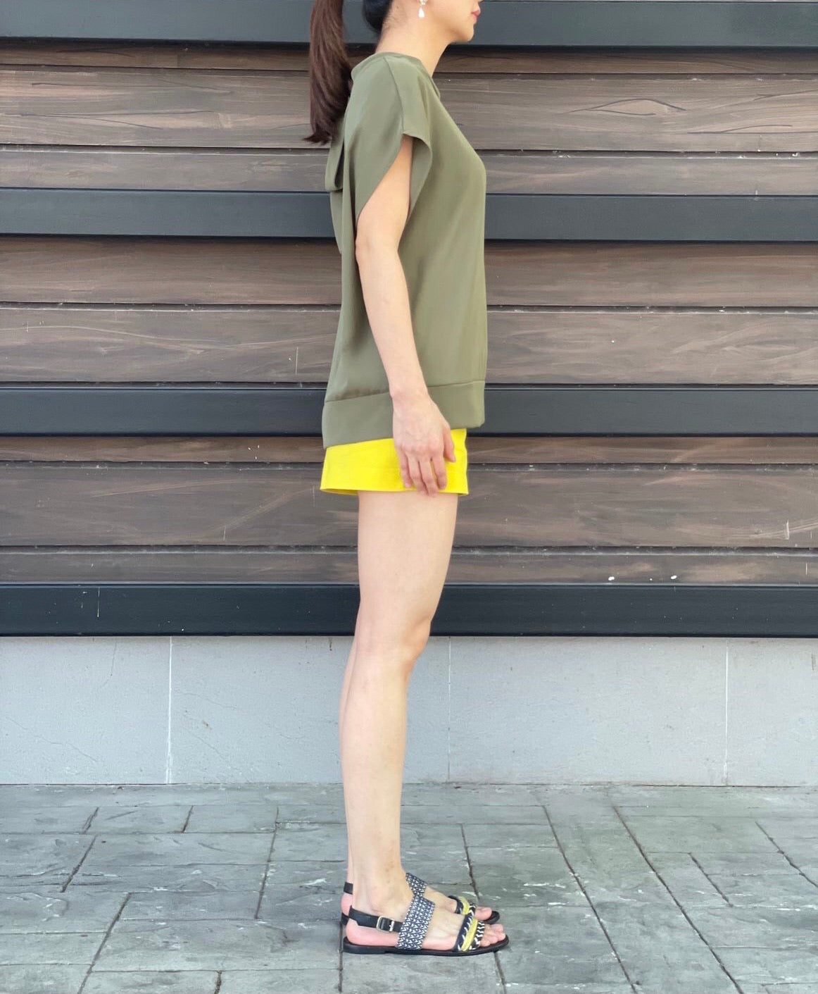 Latisha Top in Olive Green