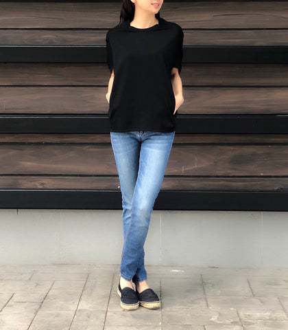 Ilona Spag Laced Top in Black