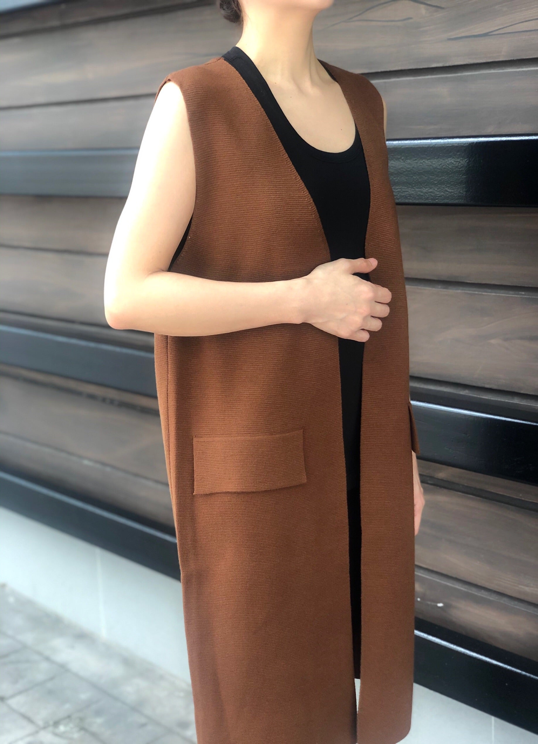 Lorinda Vest in Brown