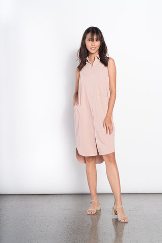Eevi Knitted S/L Dress in Beige