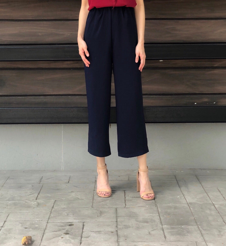Lacey Culottes in Navy